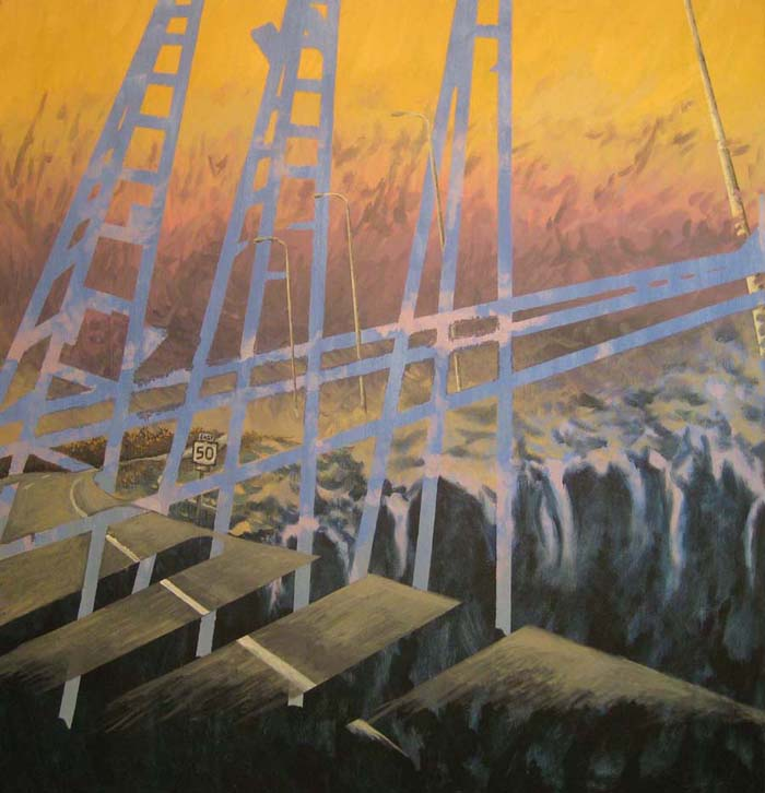 Maryland- 4' x 4'- Acrylic on canvas -example work of Damon Kardon