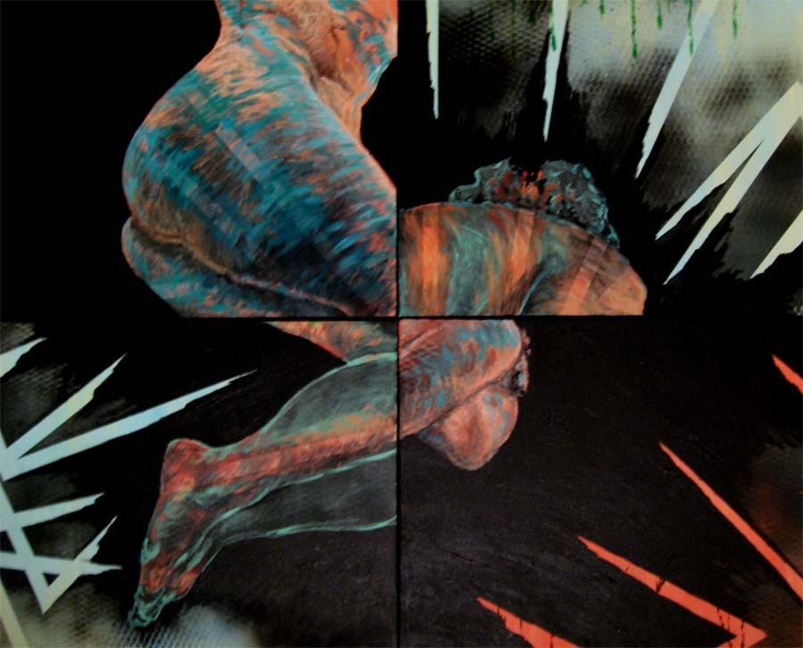 Untitled Nude- 3' x 3.5' - Acrylic on canvas 2