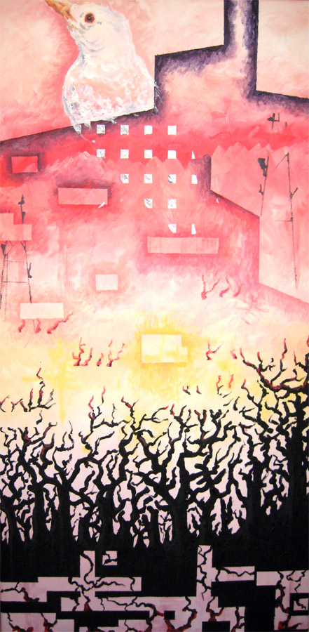 Transversus Traverse- 2009- 15in x 30in- Acrylic on canvas