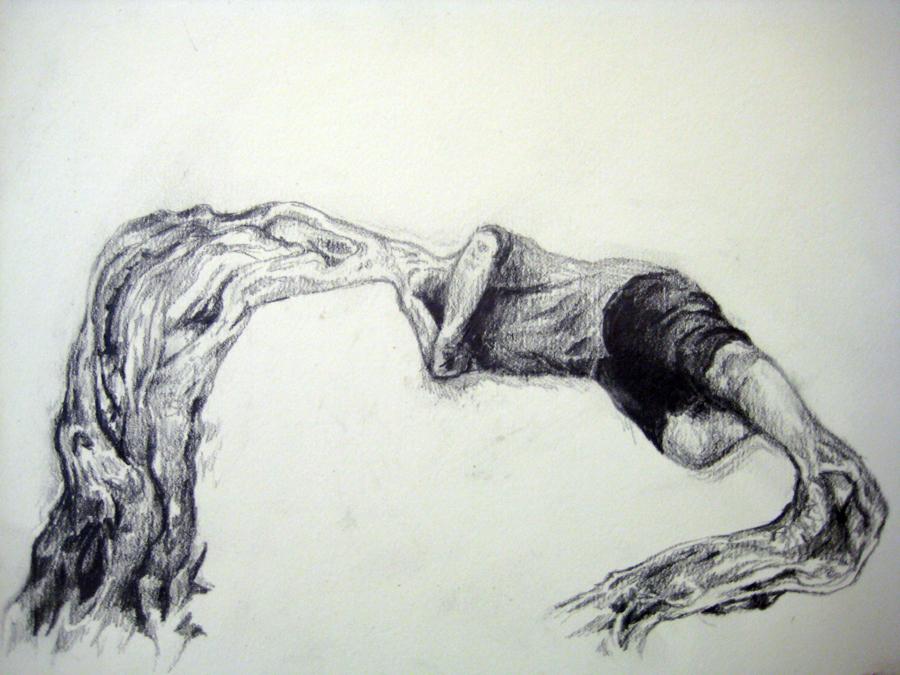 Untited- 14inX11in- graphite drawing on bristol