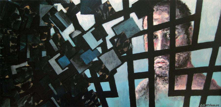 Self-Portrait-12inx24in- Acrylic on canvas