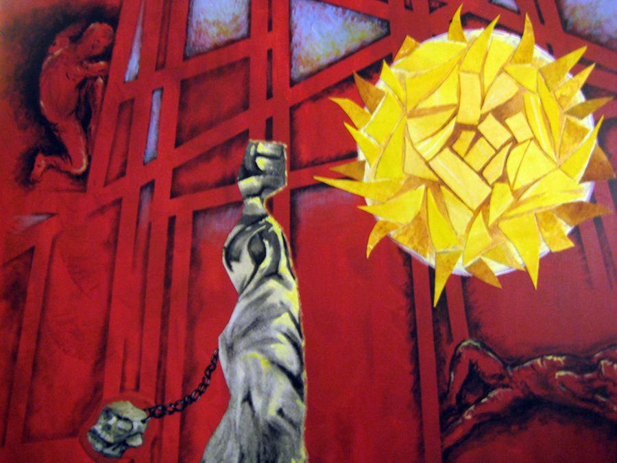 Tomb 3- 22in x 28in- Acrylic. Oil. Charcoal on canvas-1