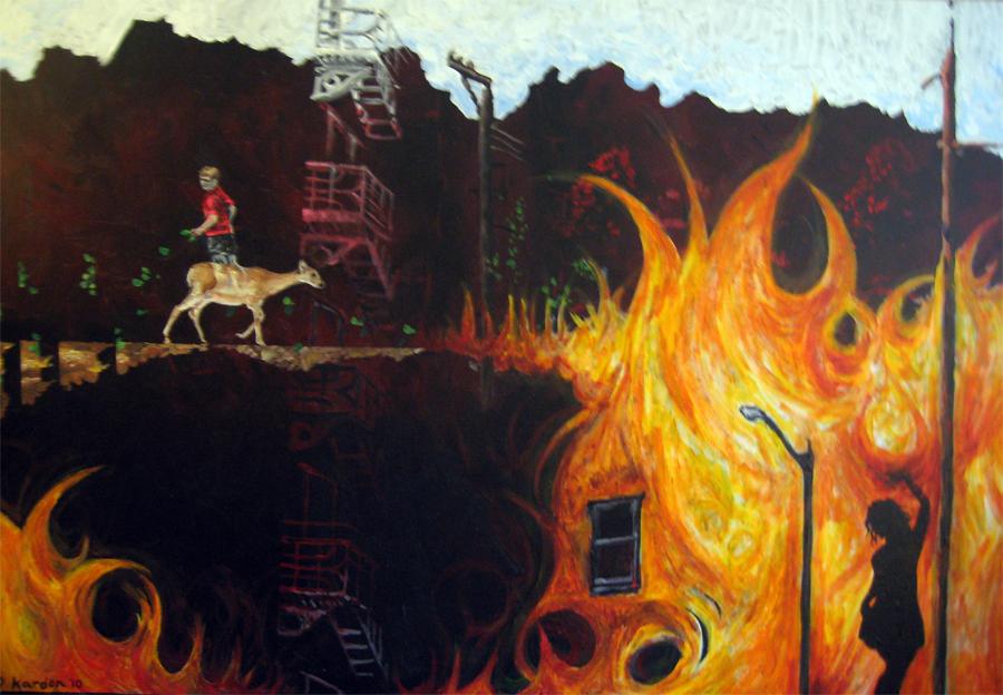 Pennsylvania 4 revised- 24inx36in- Acrylic on canvas