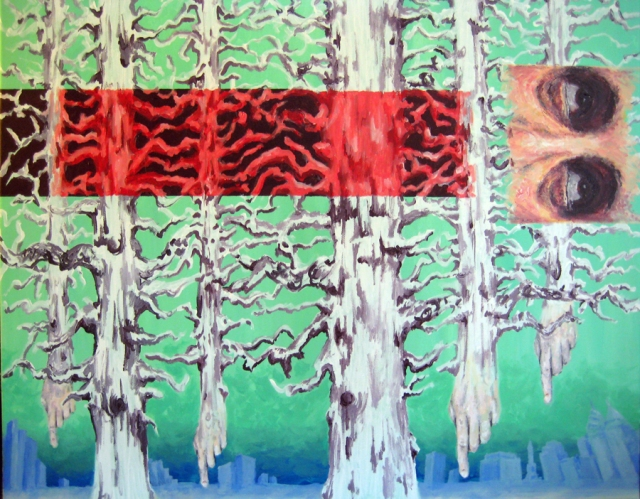 Tomb 6- 24in x30in- Acrylic on canvas