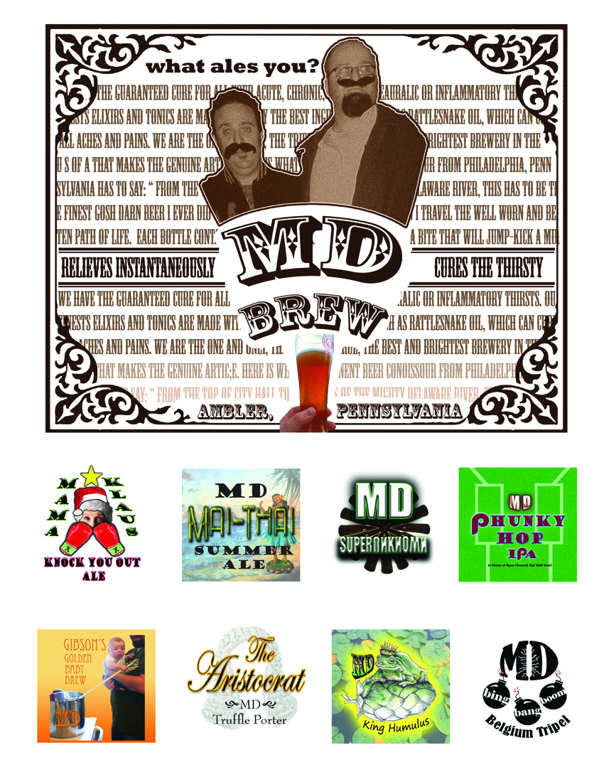 MD Brew- All 8 Labels