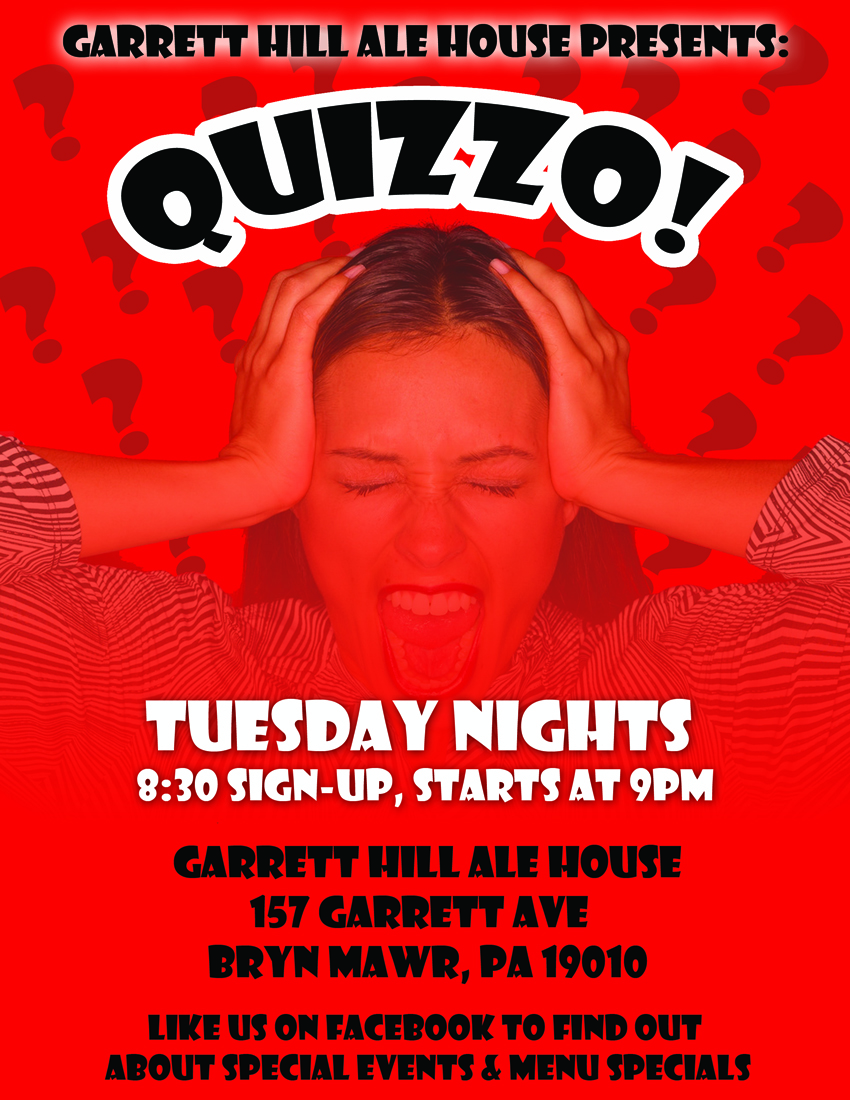 Quizzo Poster for Garrett Hill
