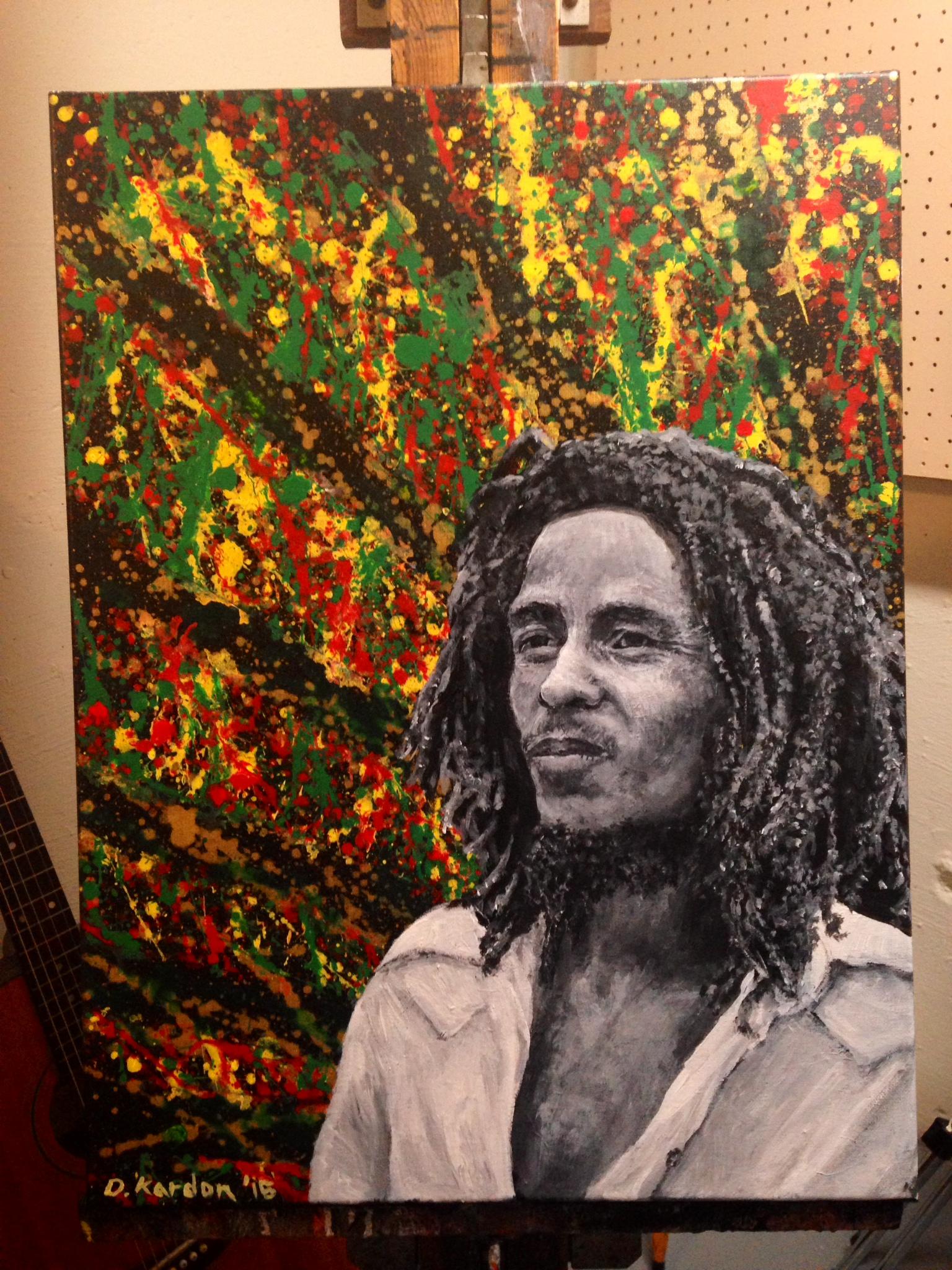 Bob- by Damon Kardon-18inx24in- acrylic on canvas- for web