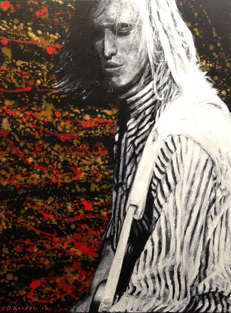 Young Tom Petty- by Damon Kardon-18inx24in- acrylic on canvas- for web