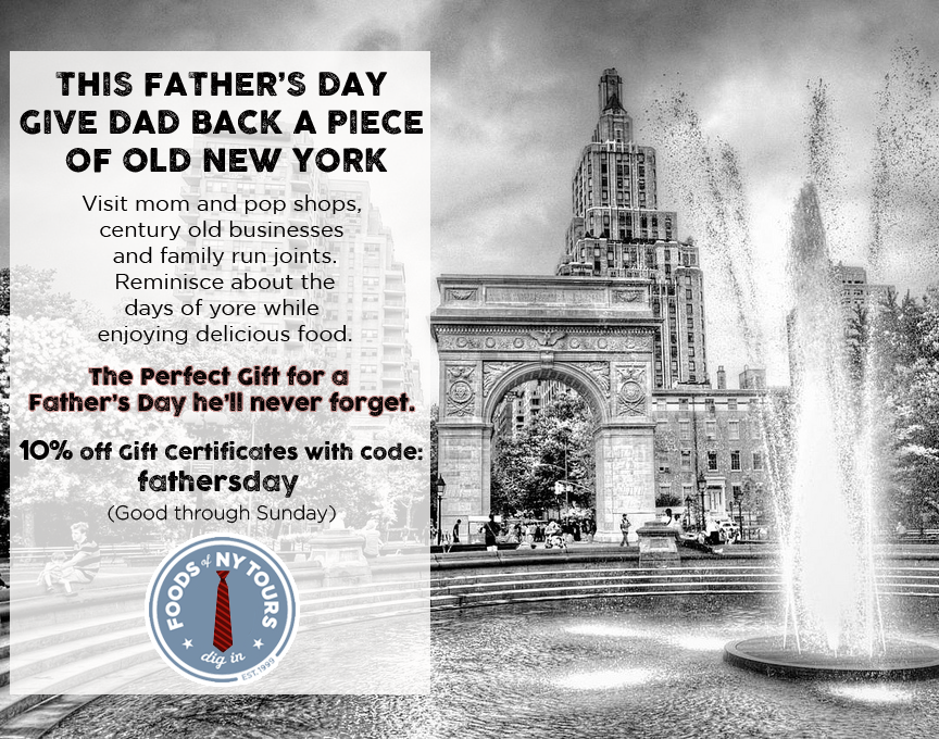 Foods of NY Tours- Fathers Day postcard #7