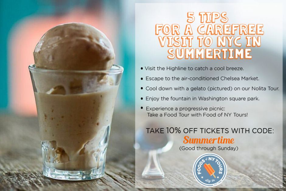 Foods of NY Tours- June postcard #7- orange creamsicle revised