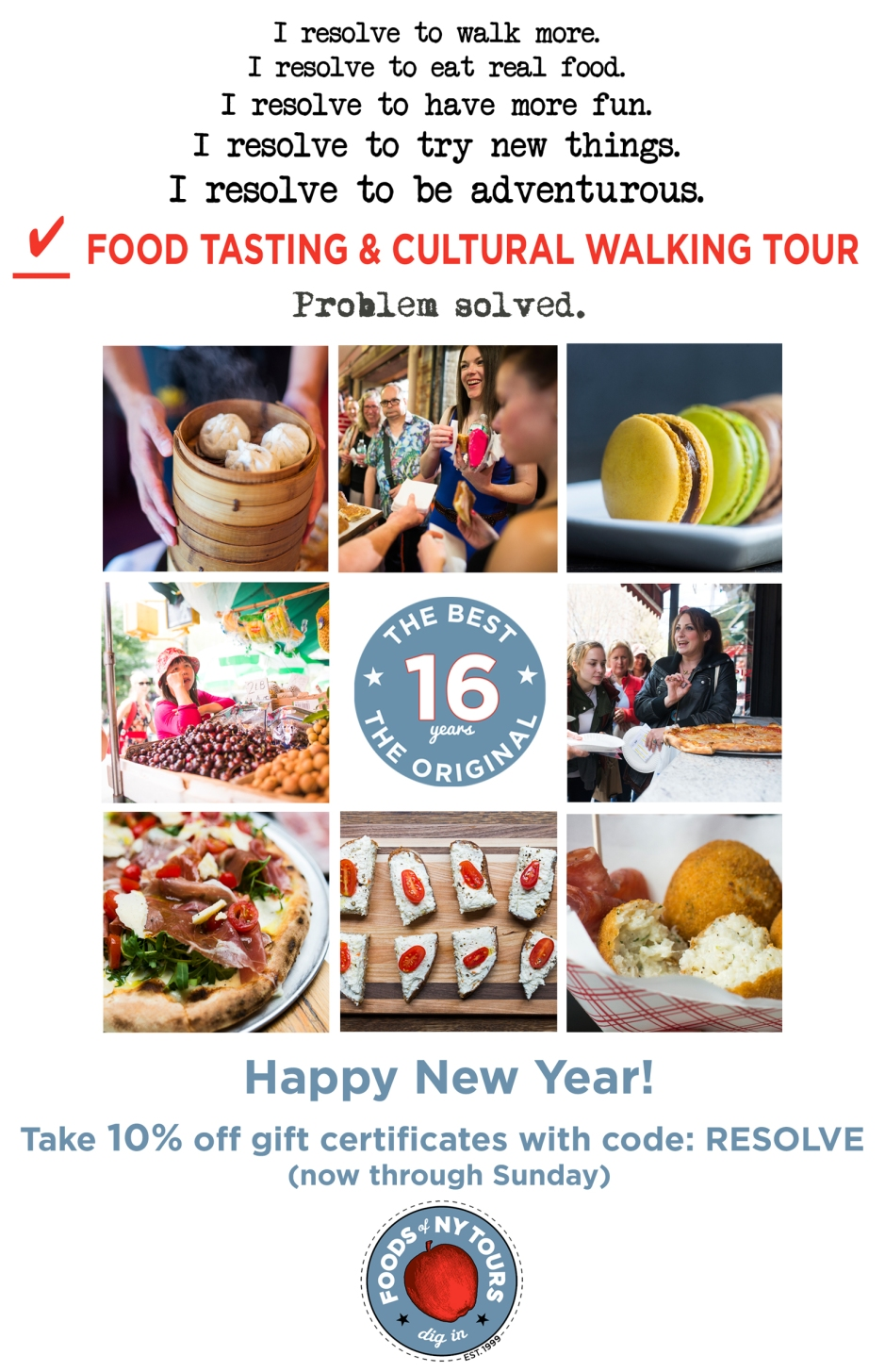 Foods of NY Tours- New Year Ad #3
