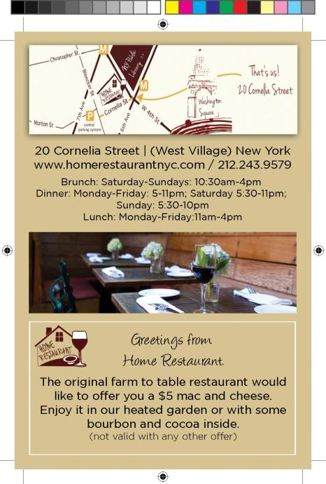 Home Restaurant Postcard- to print #4-2