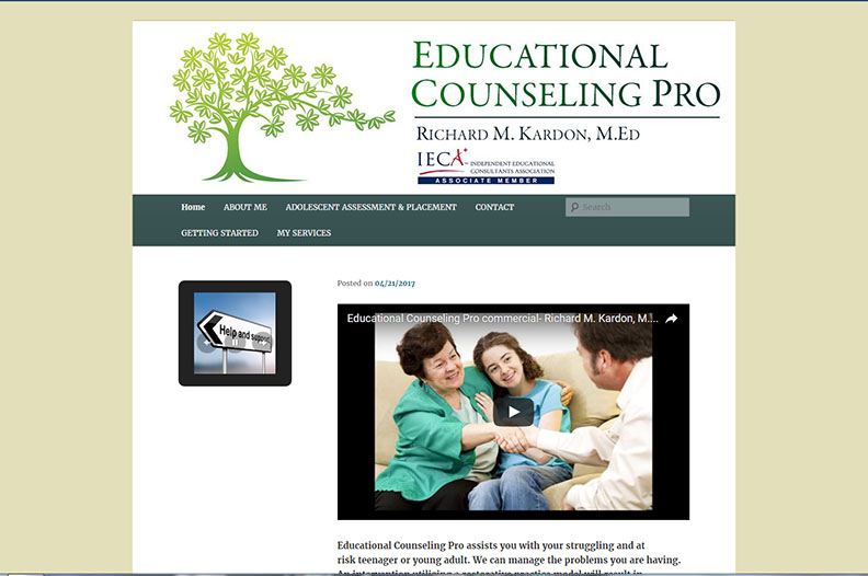 Website Design/Video Production- Educational Counseling Pro