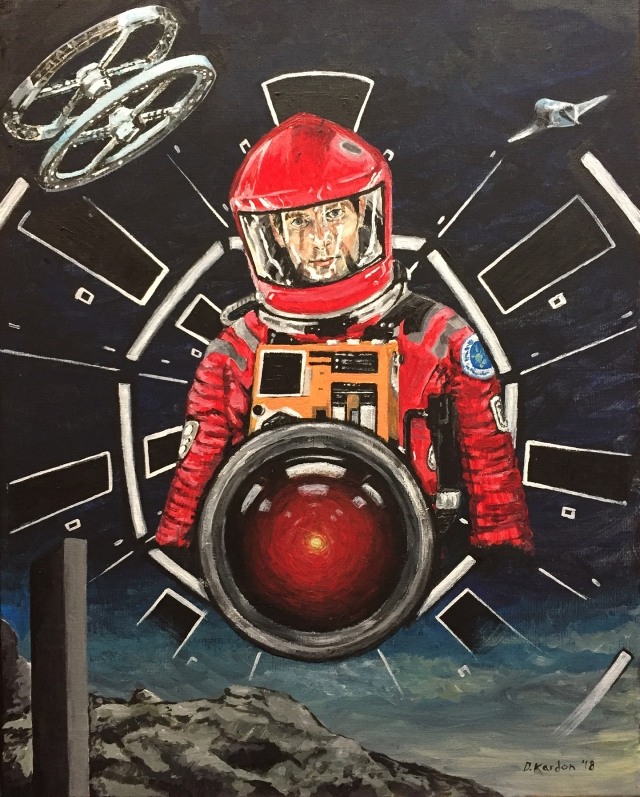 2001 A Space Odyssey- painting by Damon Kardon-2018- for web