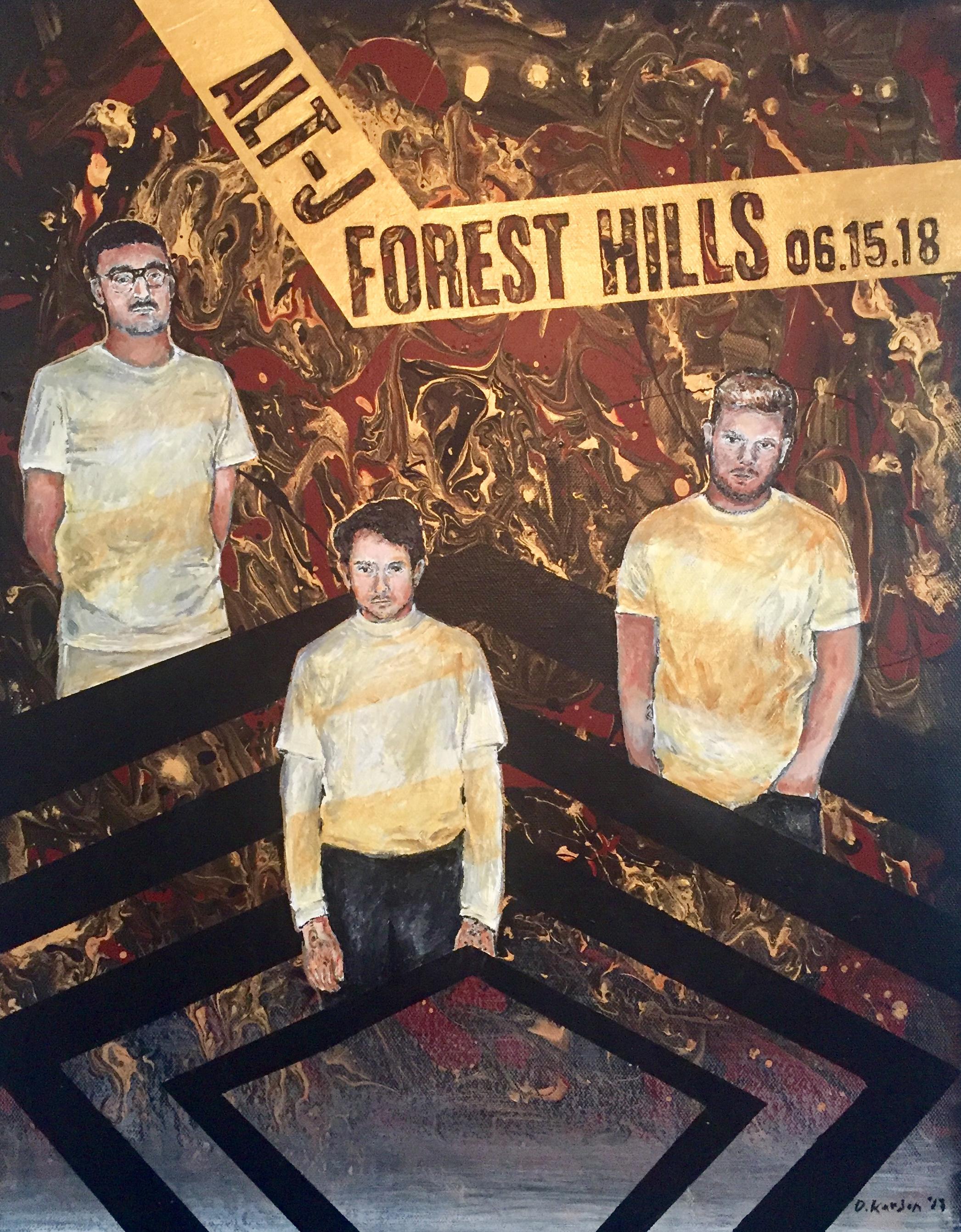 Alt J Forest Hills- Finished Painting- Damon Kardon-2018