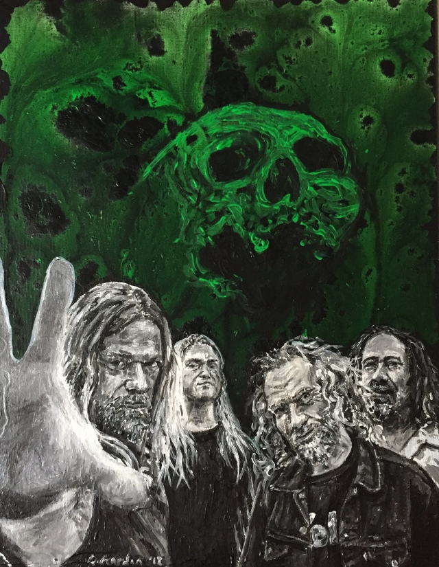 Corrosion of Conformity Painting- 2018- Damon Kardon