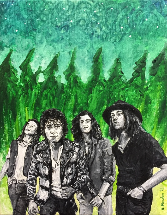 Greta Van Fleet- painting by Damon Kardon- 2018