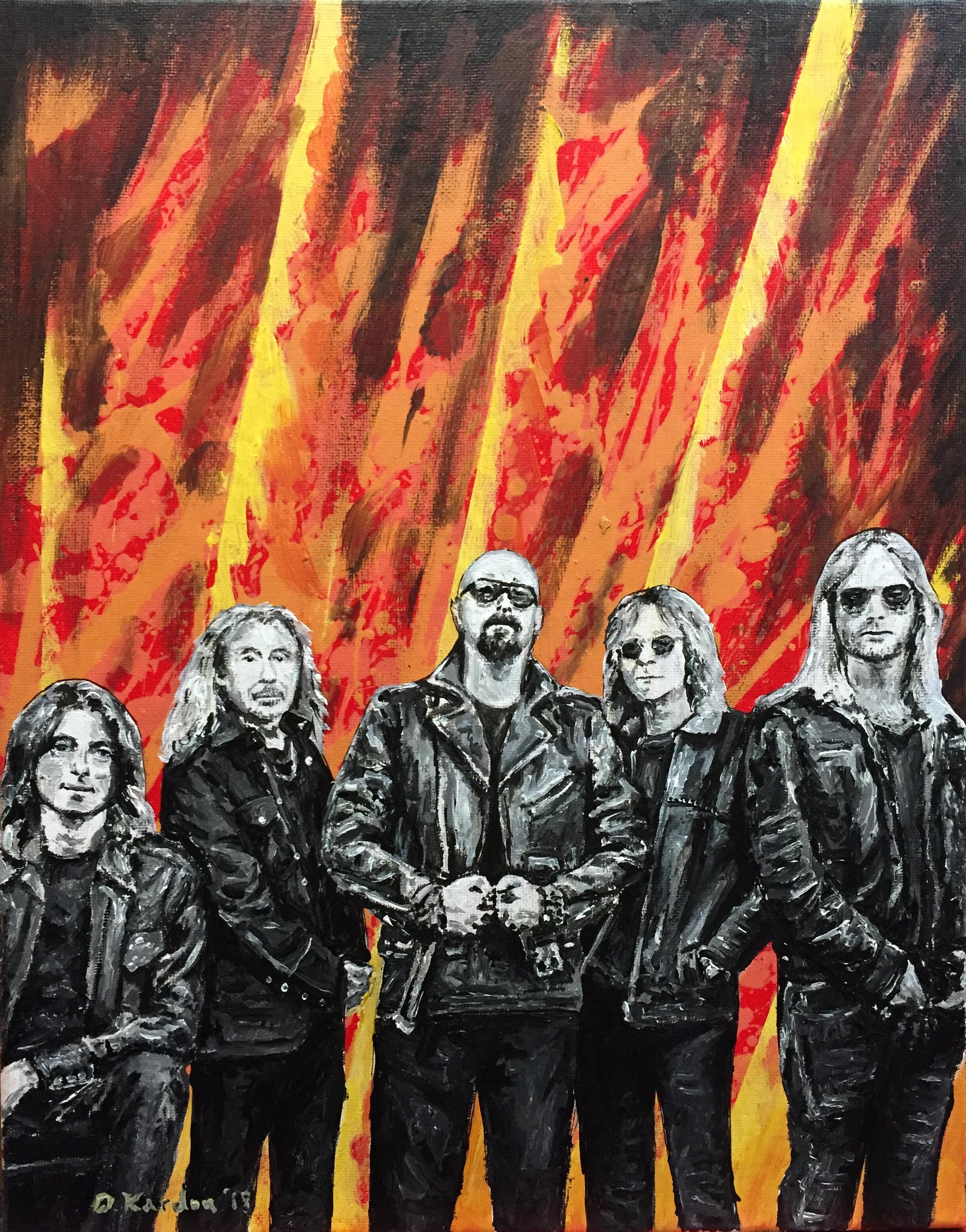 Judas Priest Painting- 2018- Damon Kardon