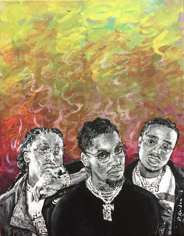 Migos- painting by Damon Kardon
