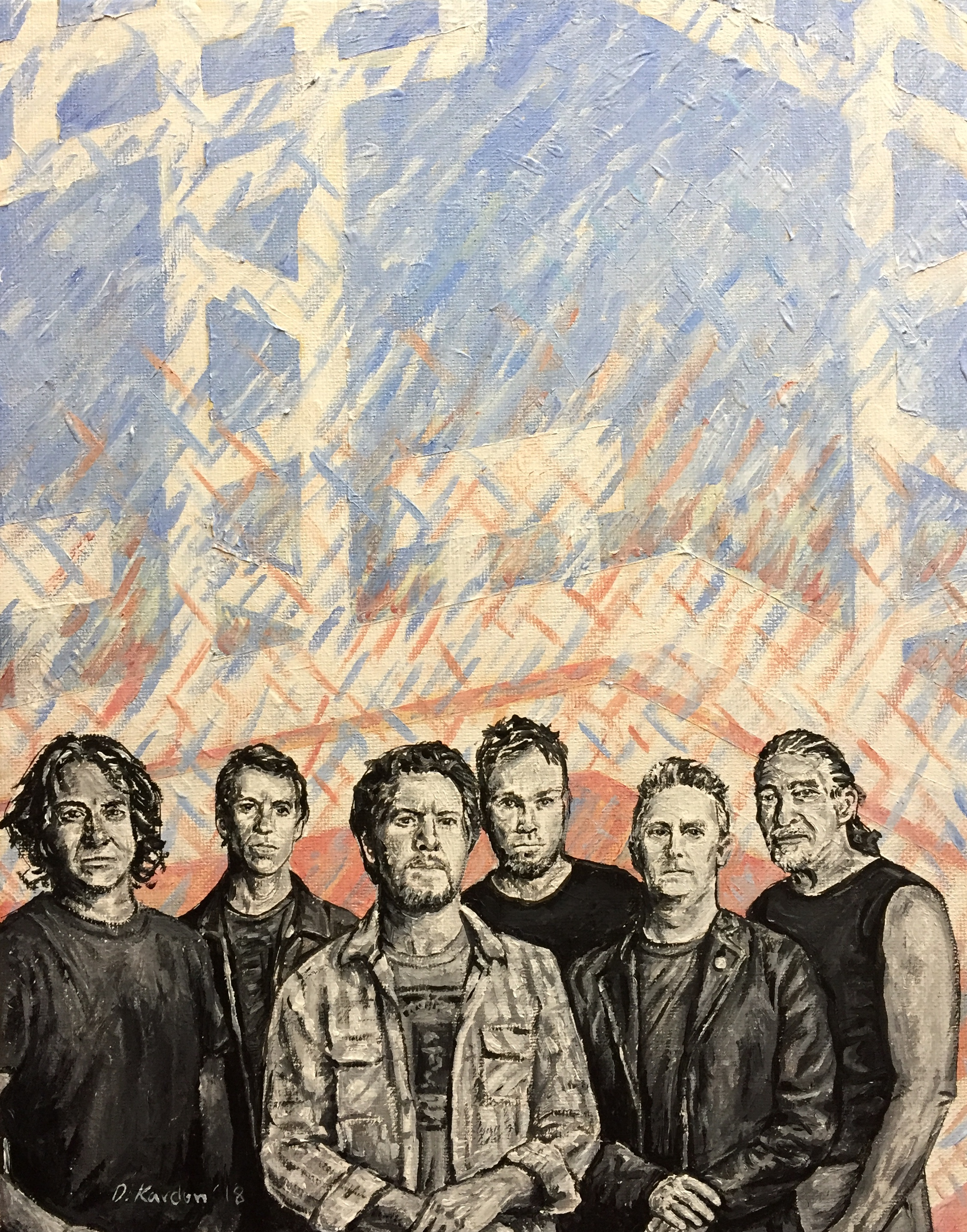 Pearl Jam Painting by Damon Kardon- 2018