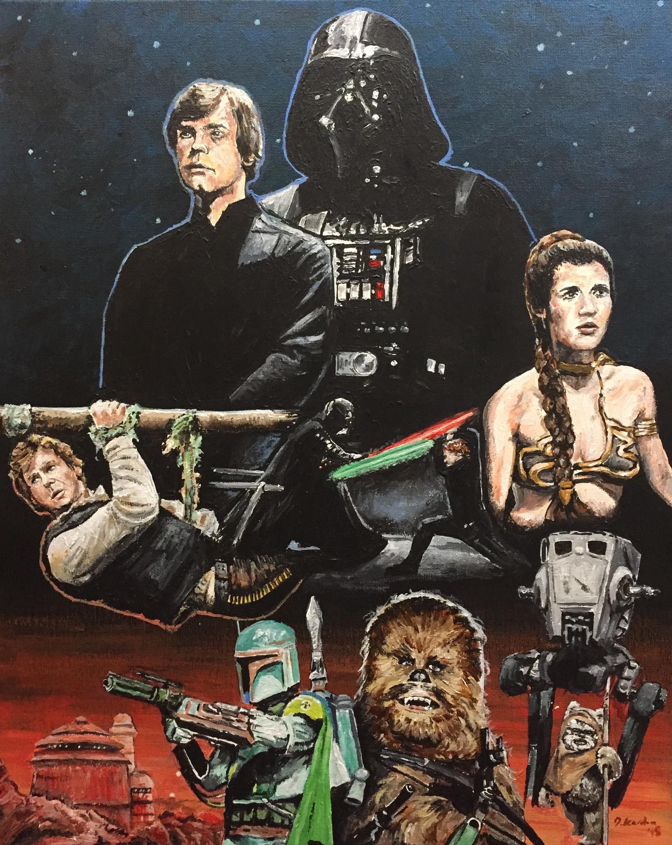 Return of the Jedi- Painting by Damon Kardon- 2018