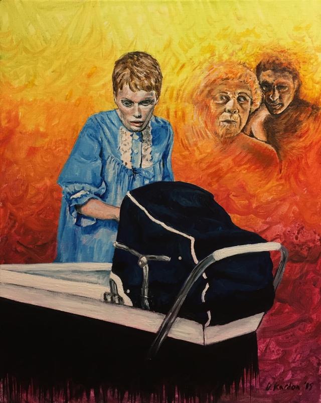 Rosemarys Baby- painting by Damon Kardon- 2018