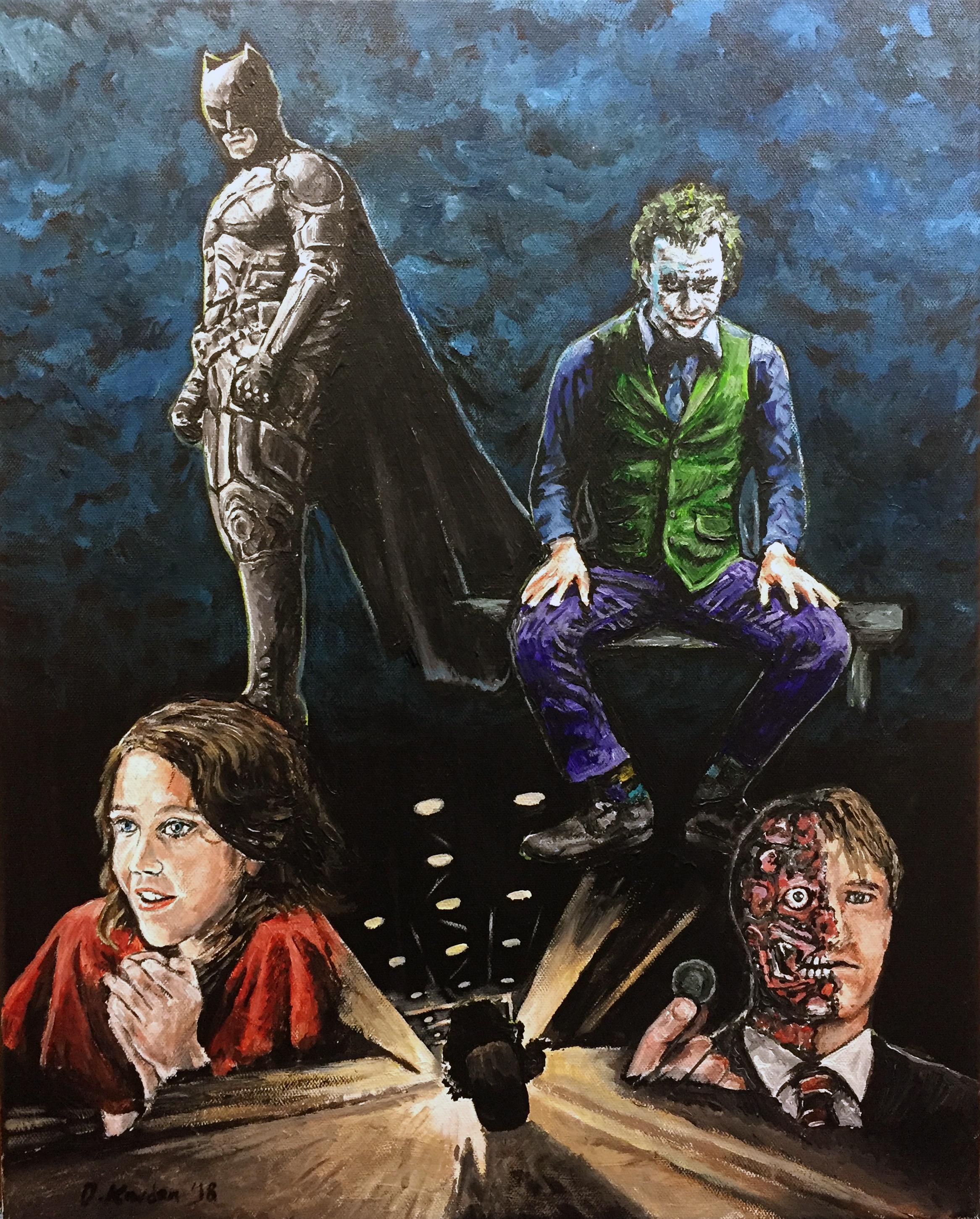 The Dark Knight- Painting by Damon Kardon-2018